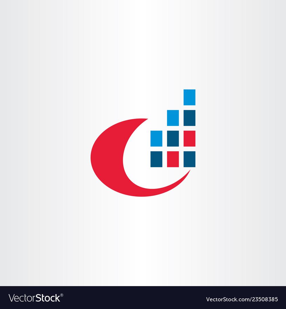 Computer data internet digital information logo