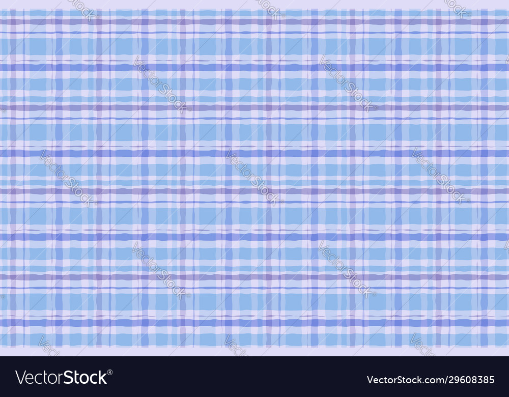 Drawn seamless watercolor plaid tartan pattern