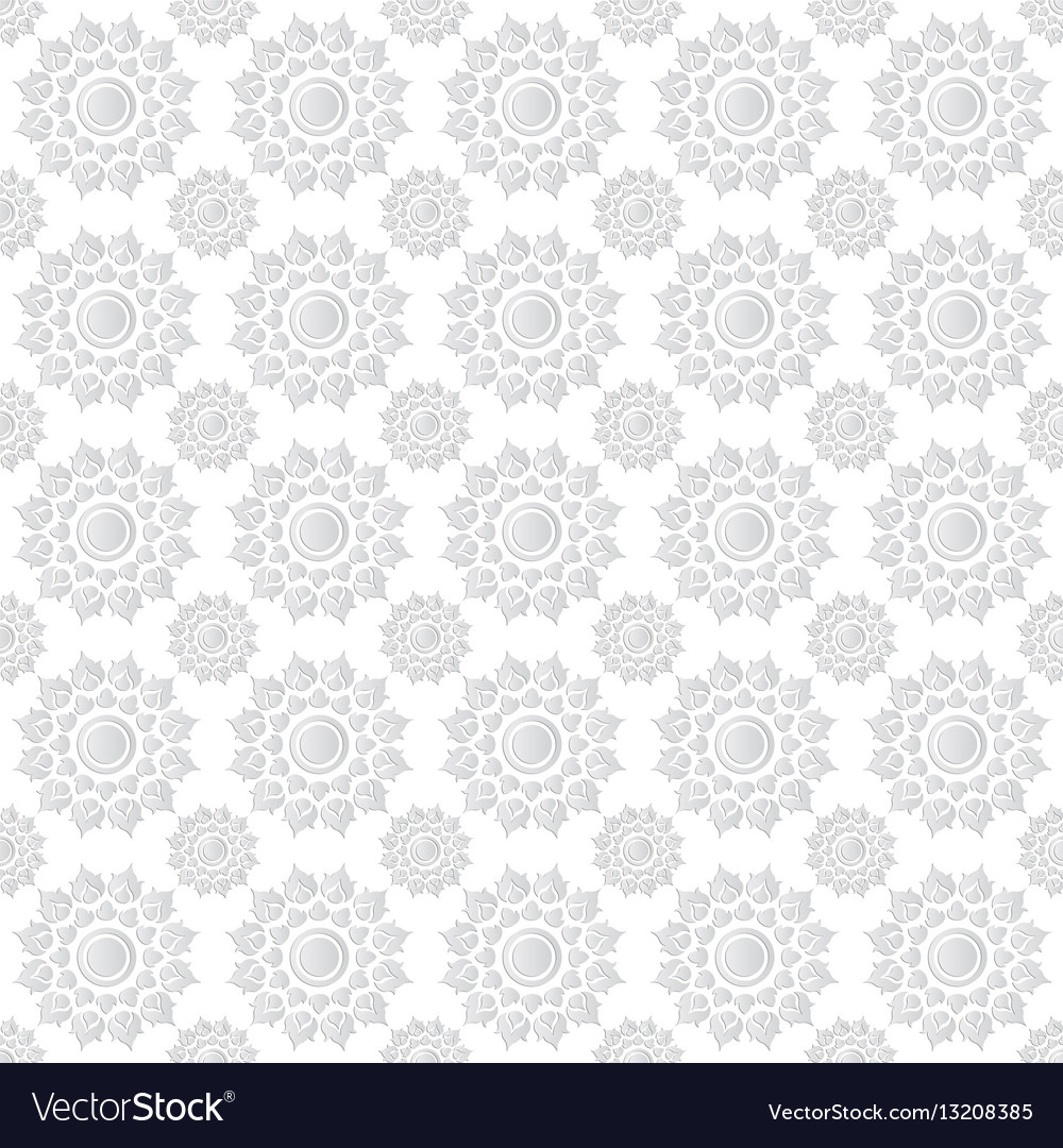 Line thai traditional art pattern background vector image