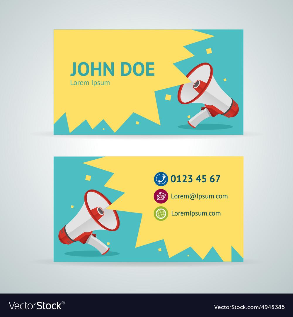 Megaphone business card template