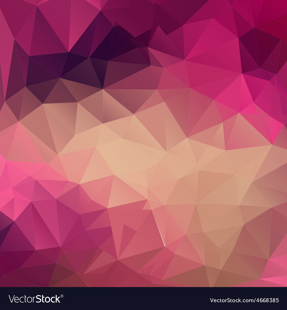 Polygon abstract texture in pink colors Royalty Free Vector