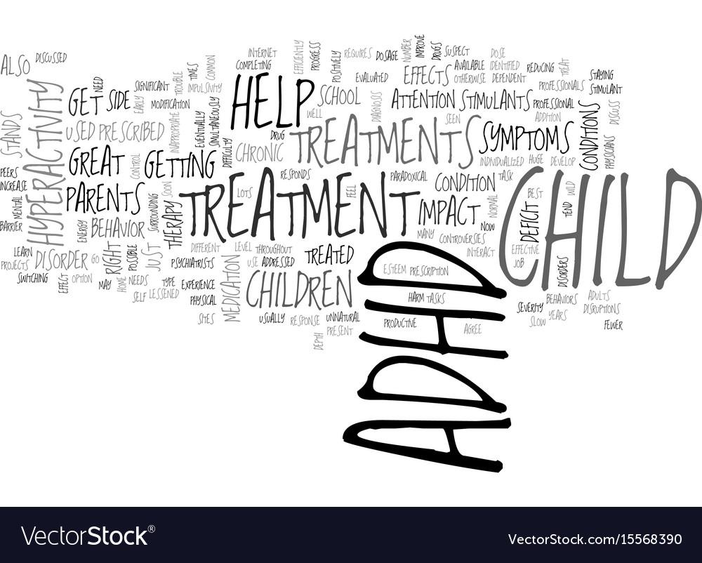 Adhd treatments text word cloud concept