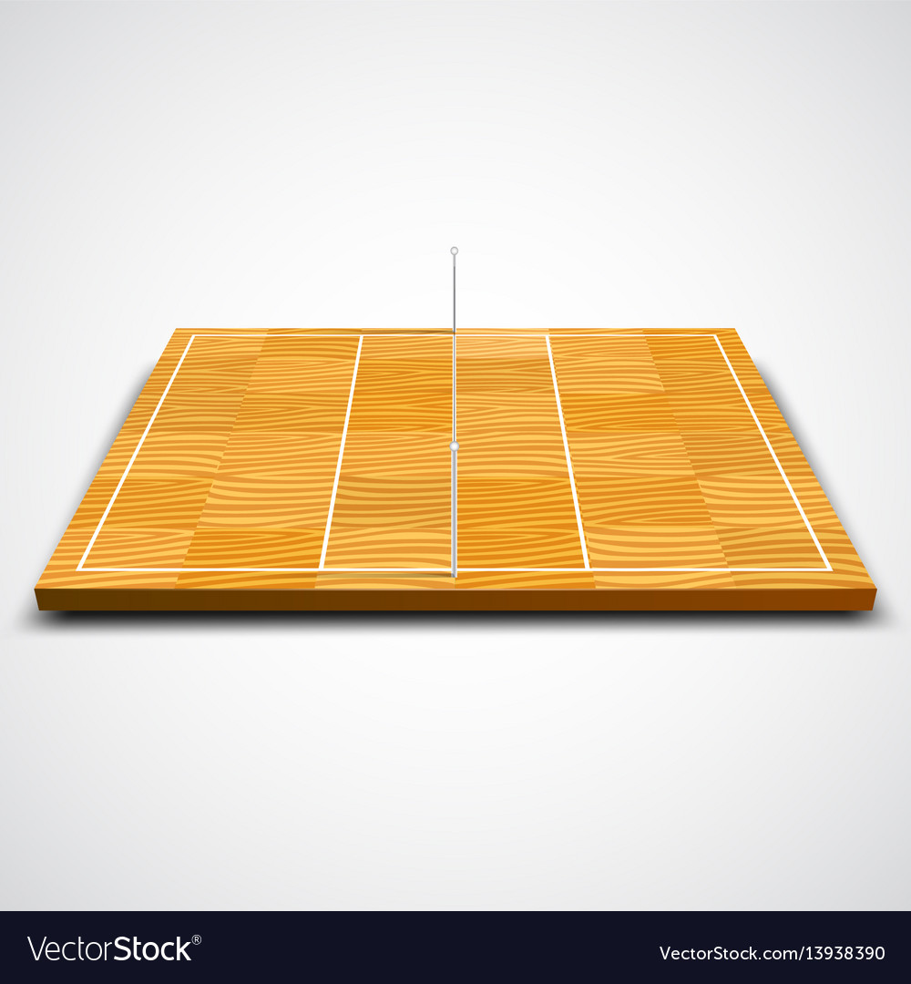 Clear 3d volleyball field