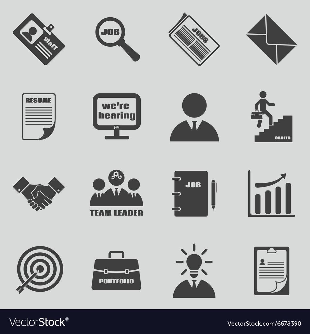 Job icons set Human resources and vector image