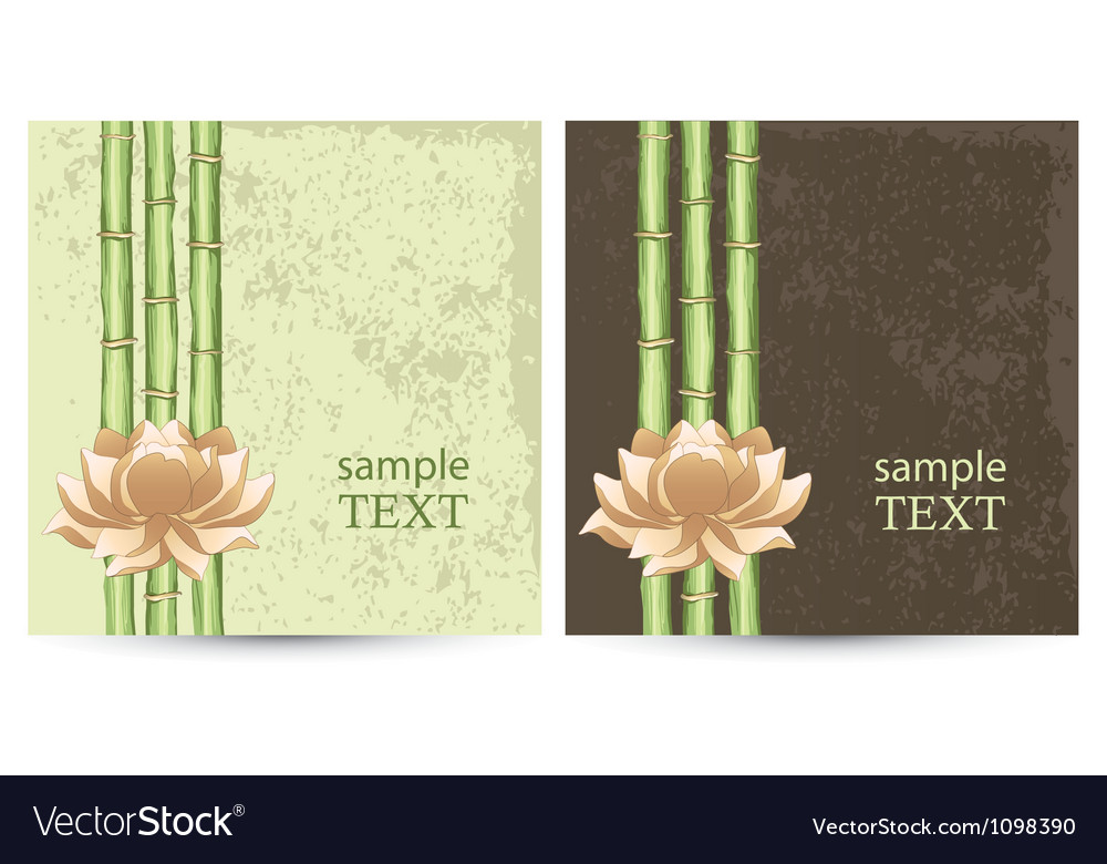 Postcard with abstract floral background vector image