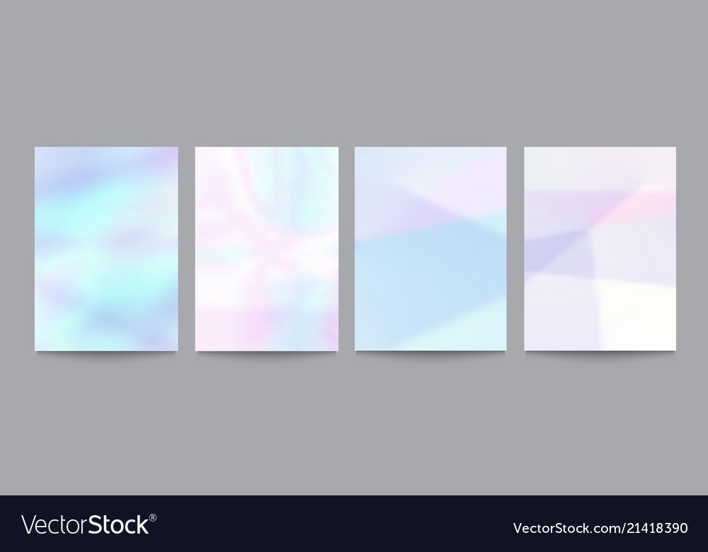 Set of template with soft pastel backgrounds