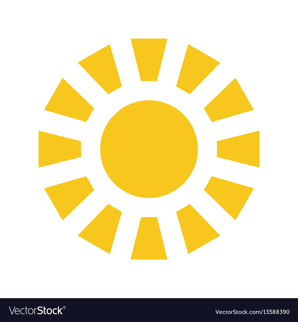 Sun icon isolated