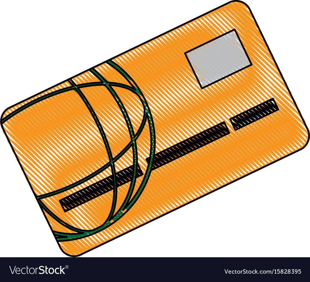 Bank card credit or debit finance security money vector image on VectorStock