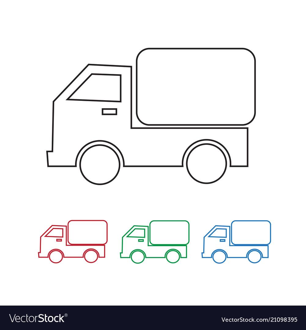 Car truck icon