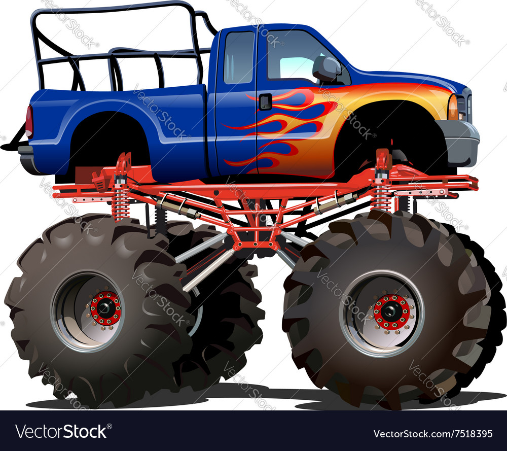 Monster Truck Flames Vector Images 72