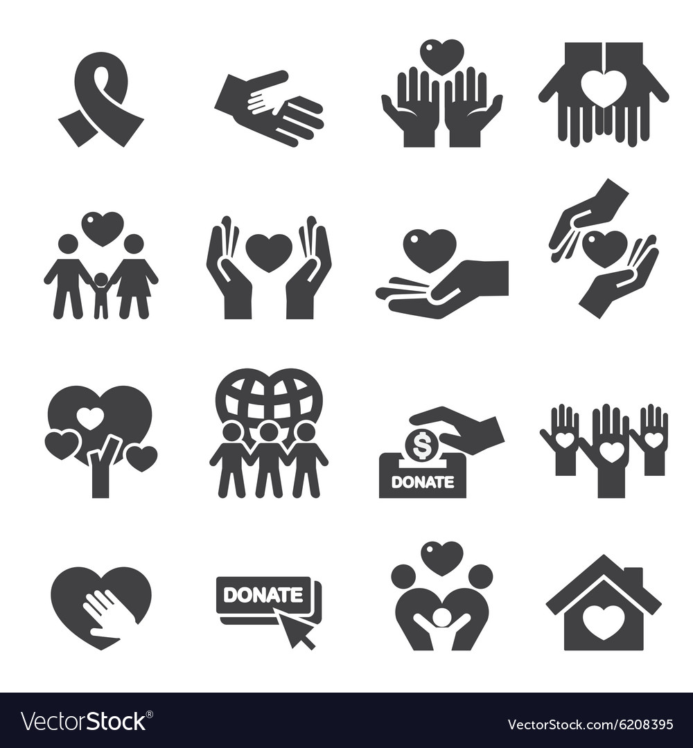 Charity silhouette icons