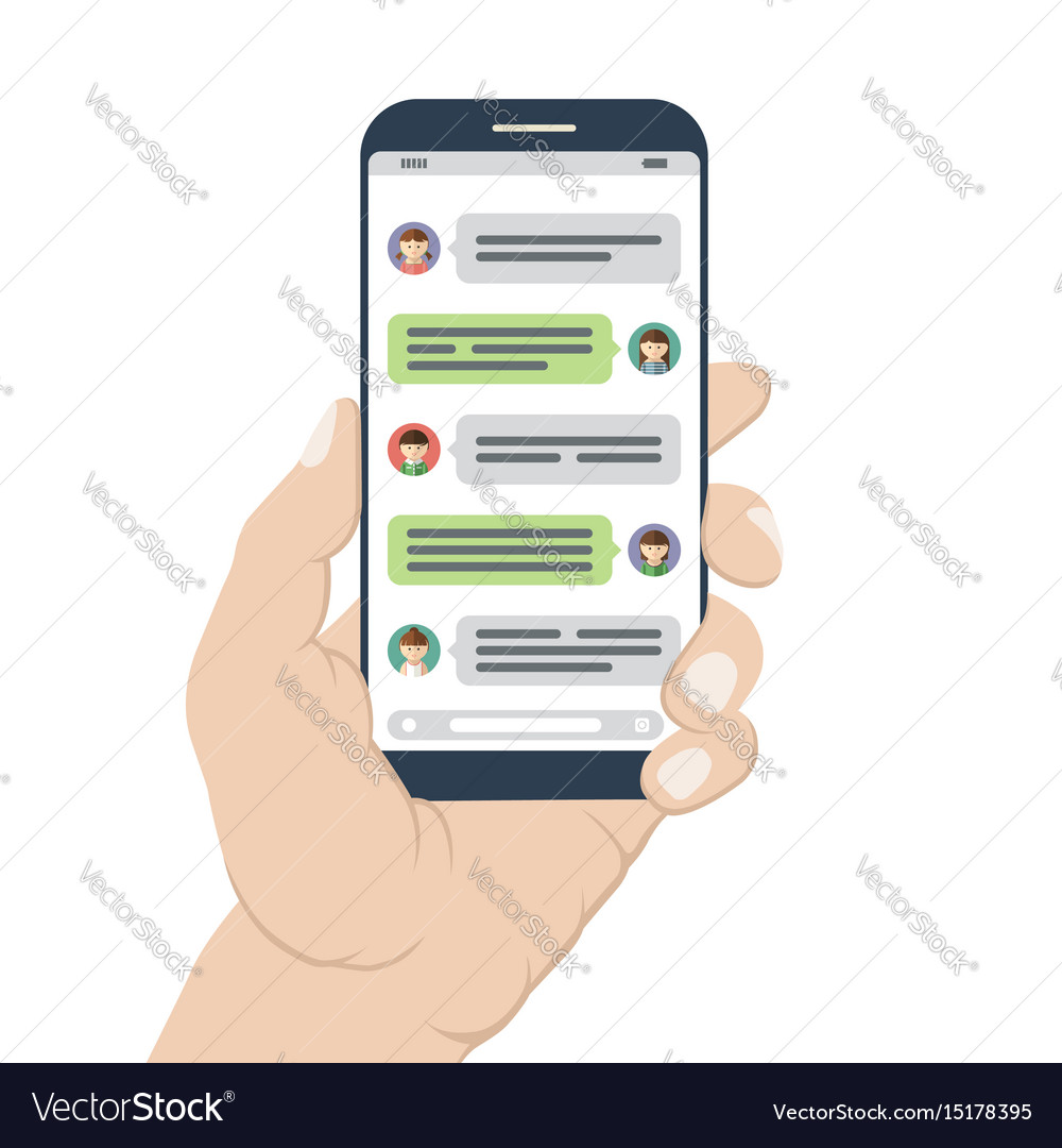 Chatting and messaging on mobile phone