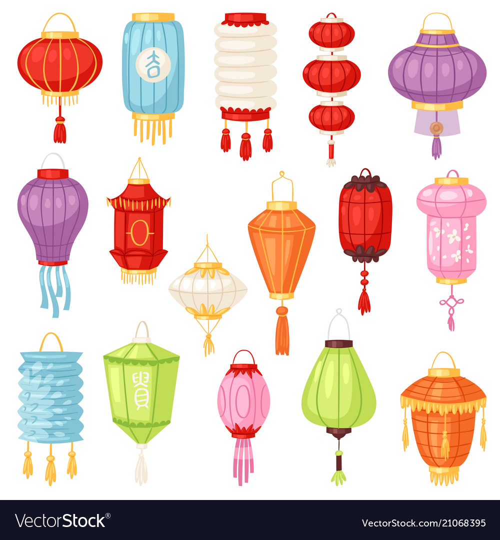 Chinese lantern traditional colorful