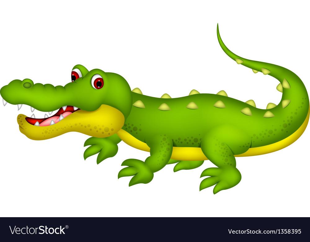 Cute crocodile cartoon Royalty Free Vector Image - photo#31