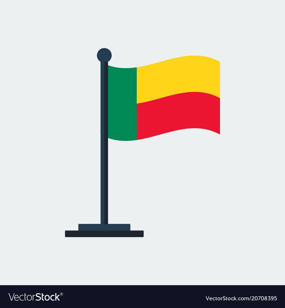 Flag of benin flag stand