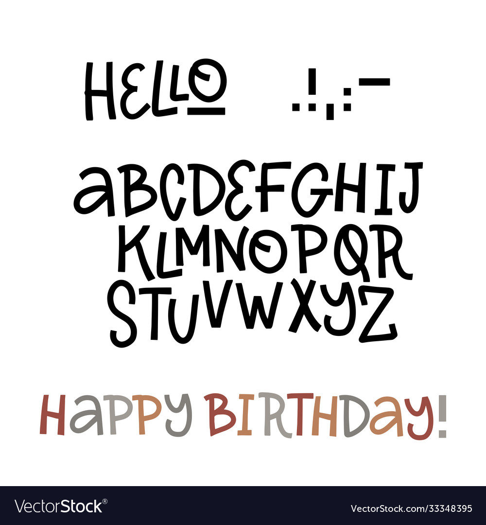 Hand drawn doodle abc cut out font perfet vector