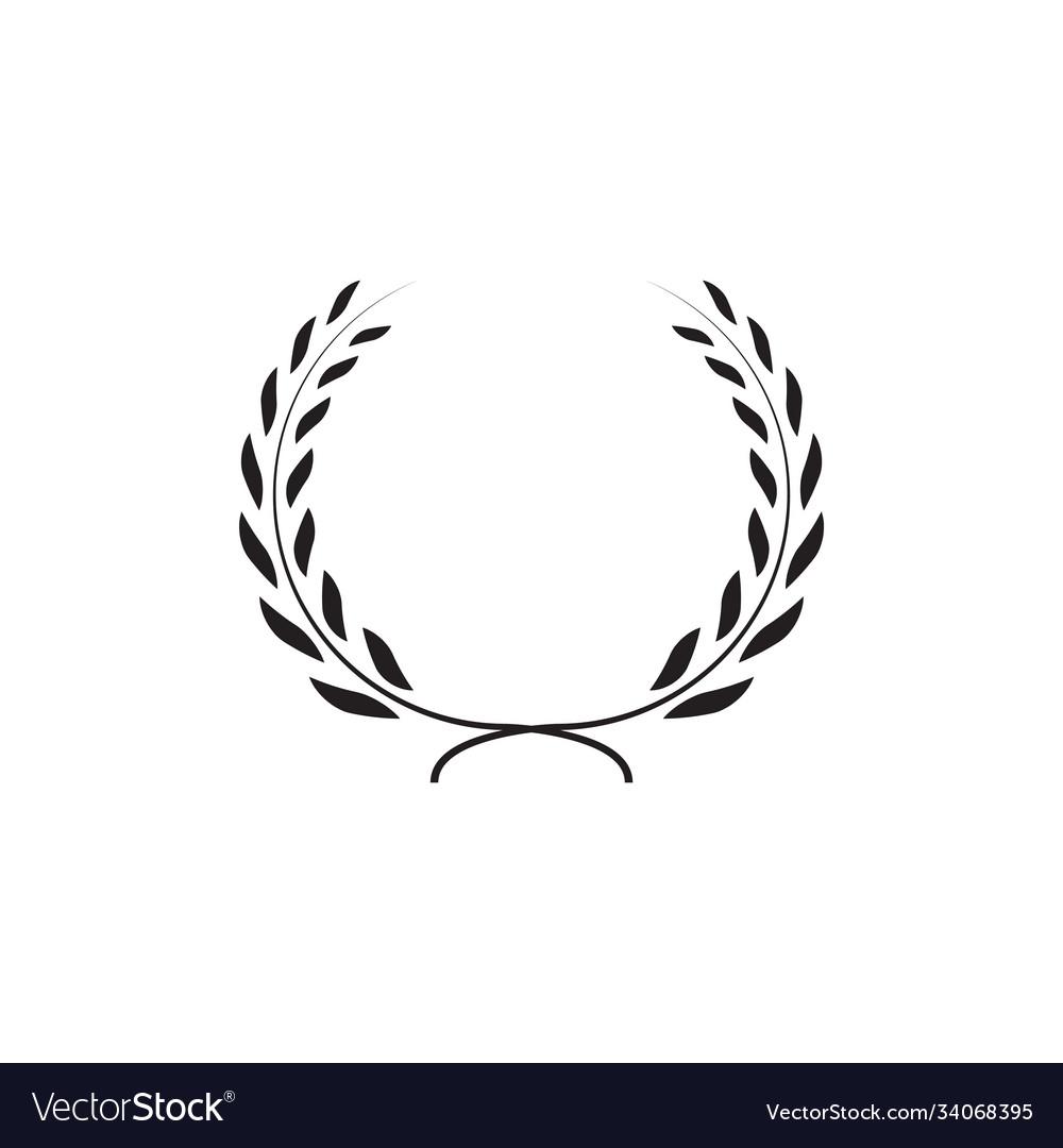 Laurel wreath graphic design template