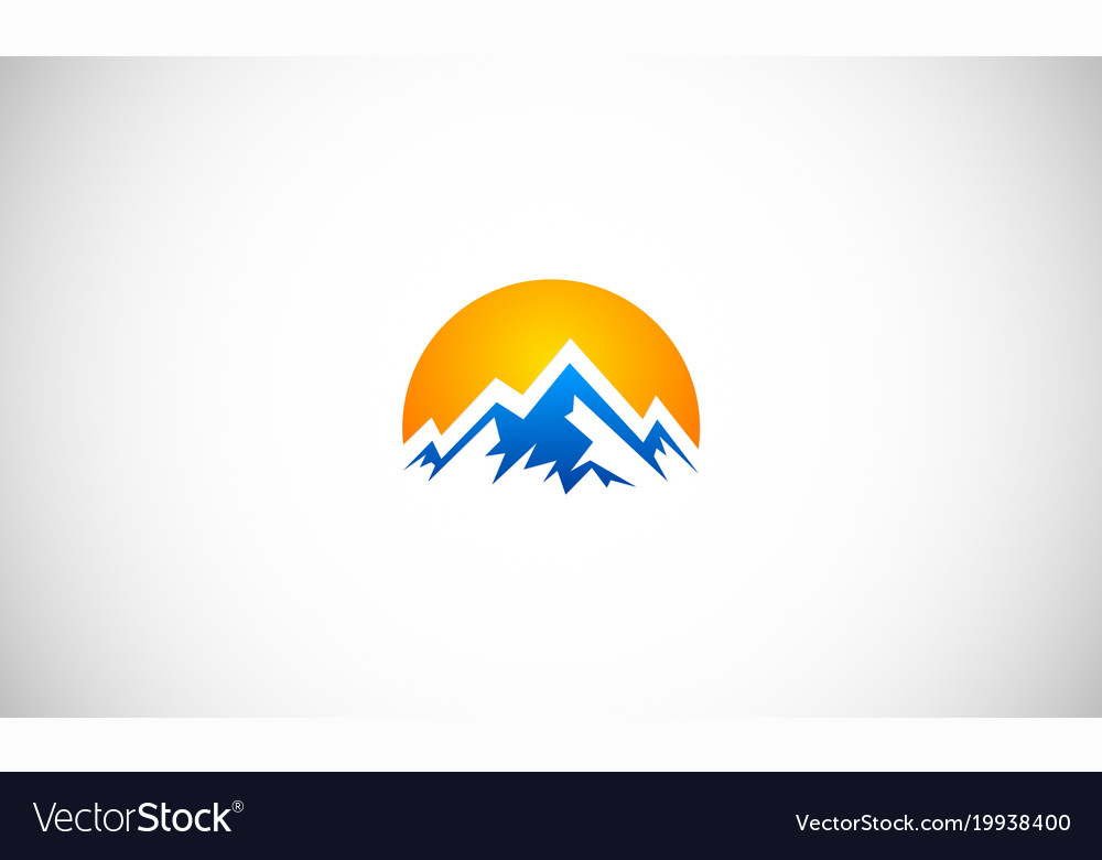 Abstract high mountain logo