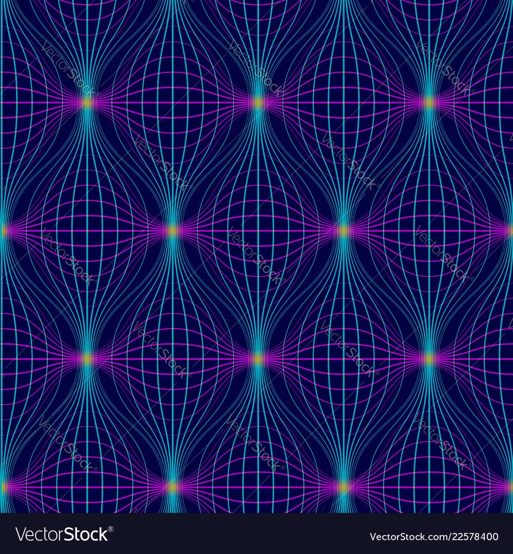 Abstract seamless pattern neon geometric
