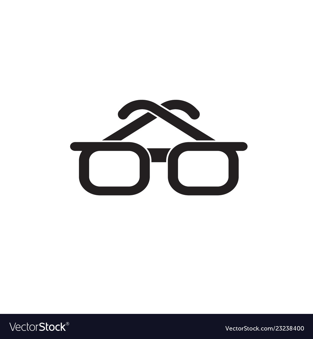 Businessman glasses black concept icon