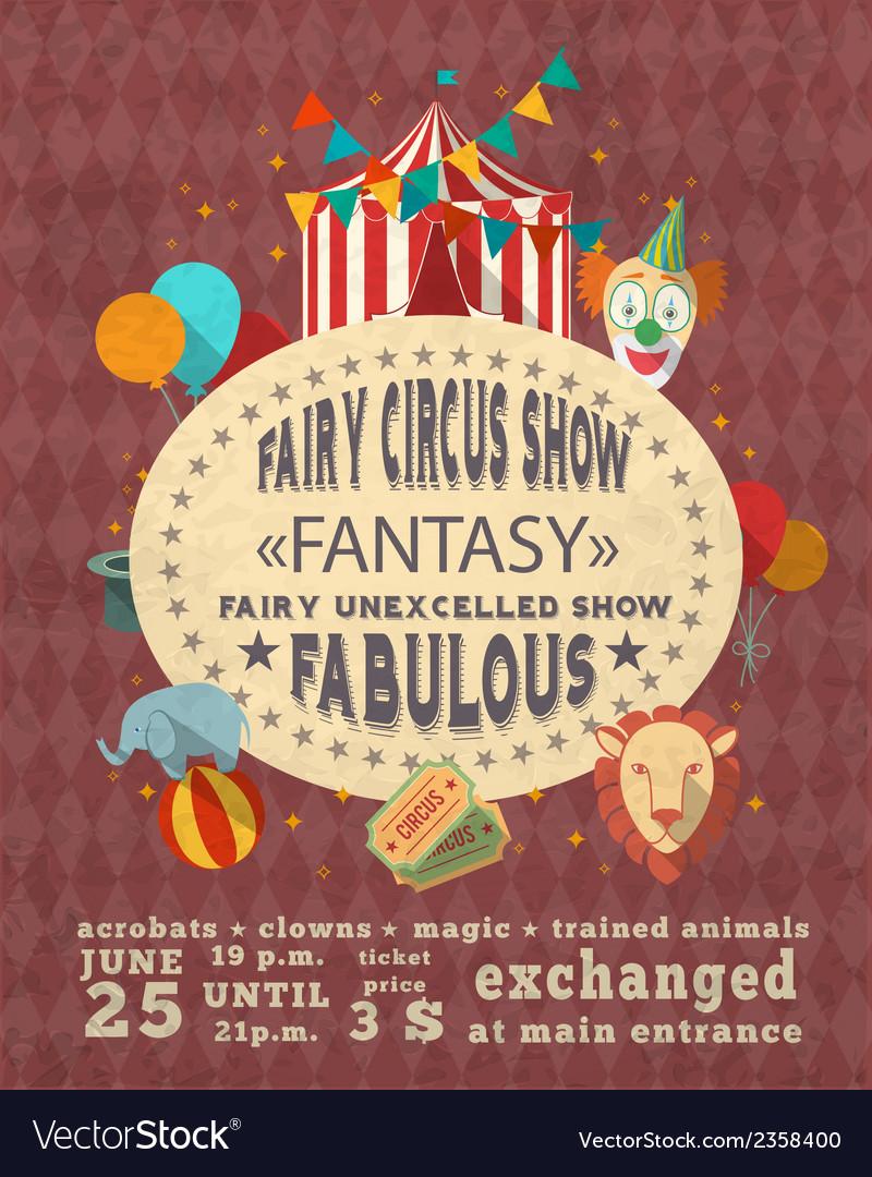 Circus vintage advertisement poster