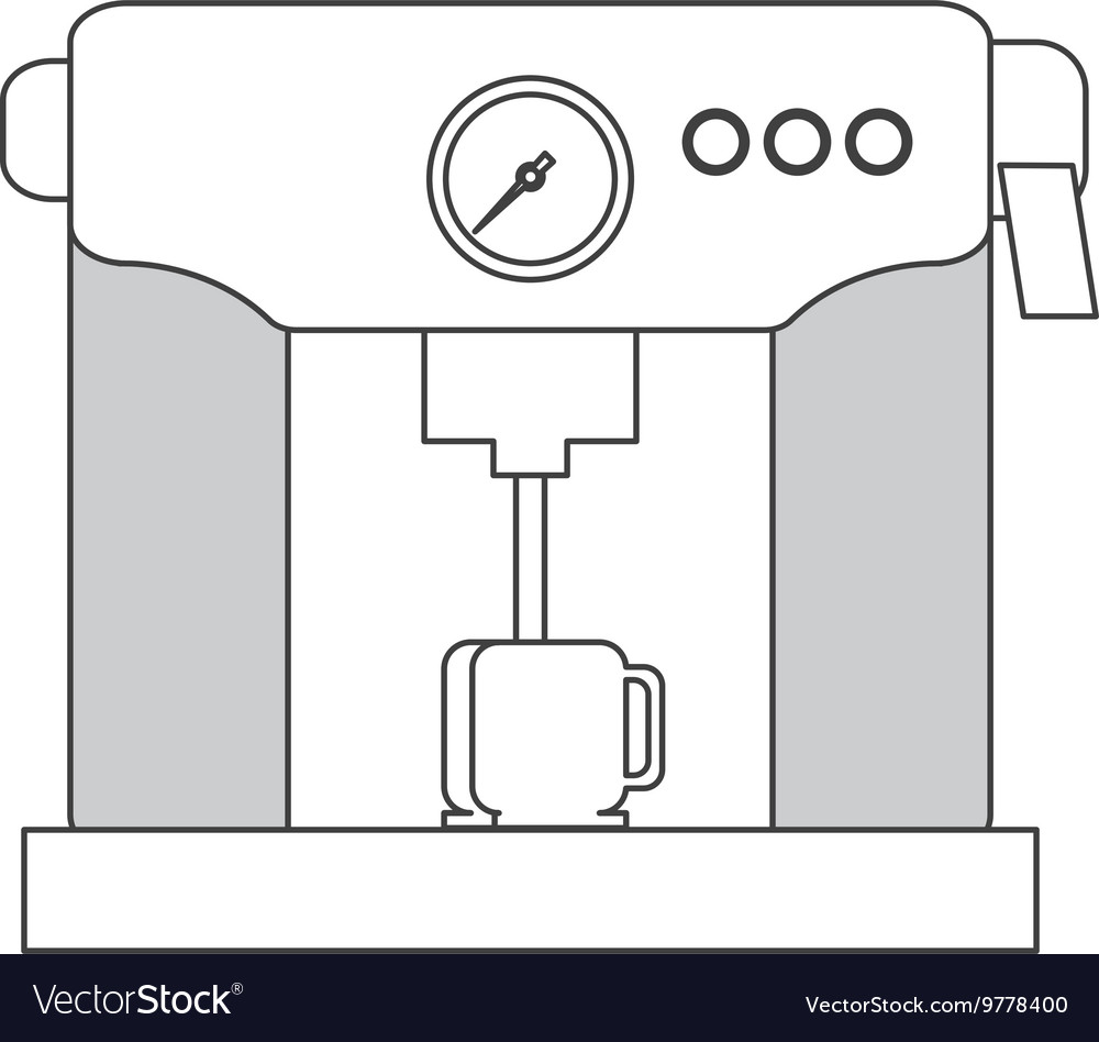 Coffee Machine Icon Royalty Free Vector Image Vectorstock Diagram