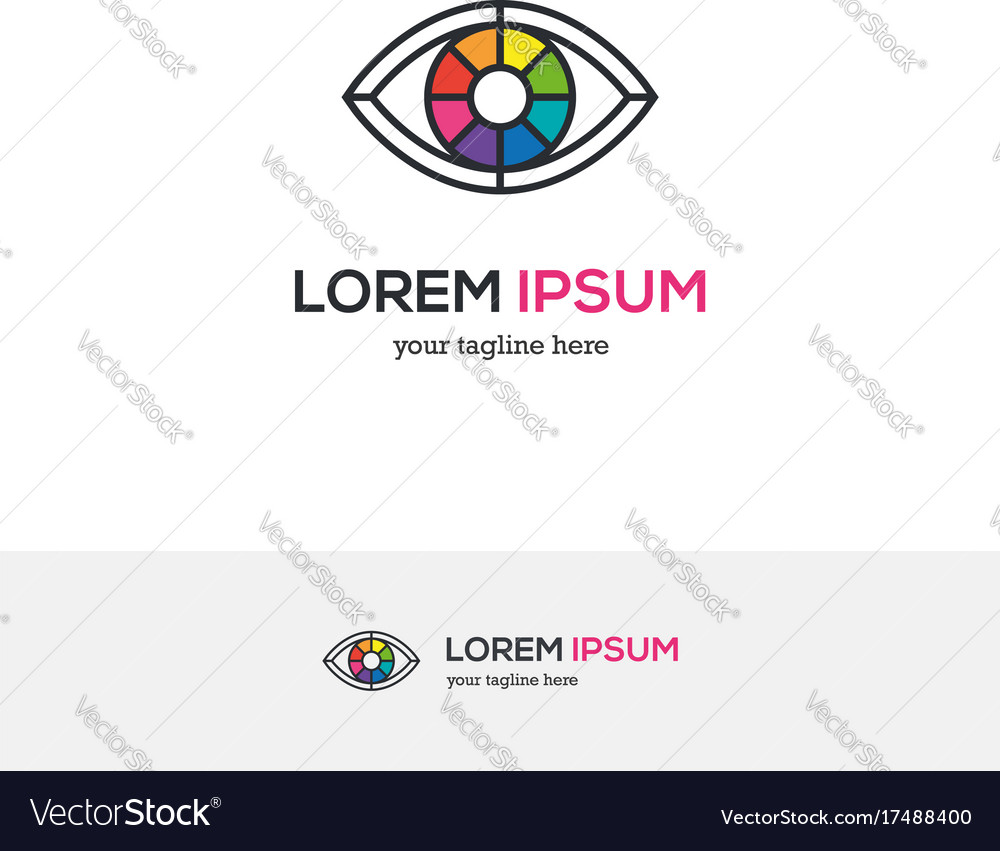 Colorful Eye Logo Looking Like A Color Wheel Vector Image