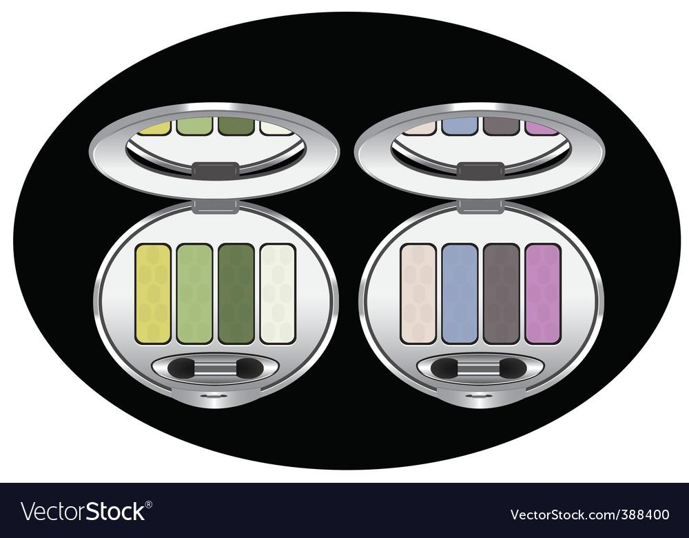 Eye shadows vector image