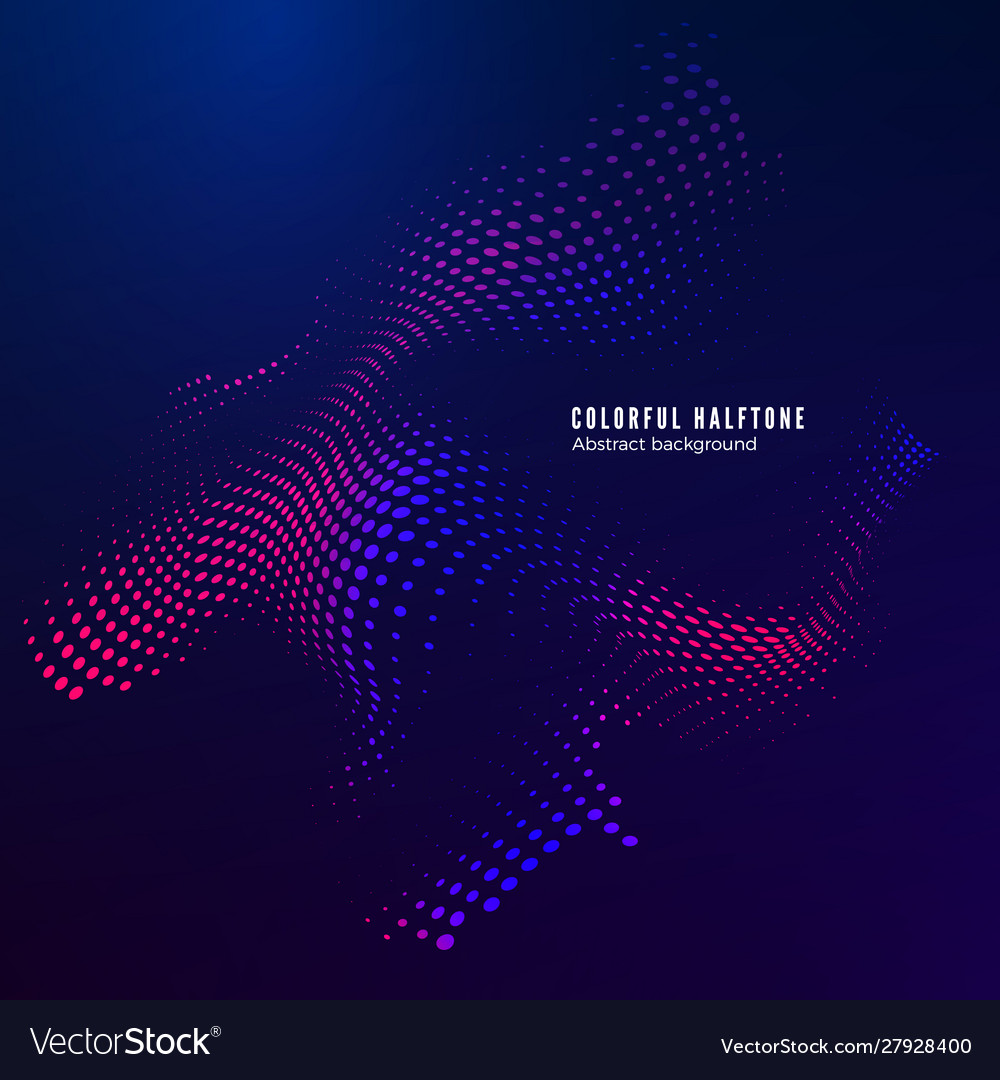 Halftone design element motion effect abstract