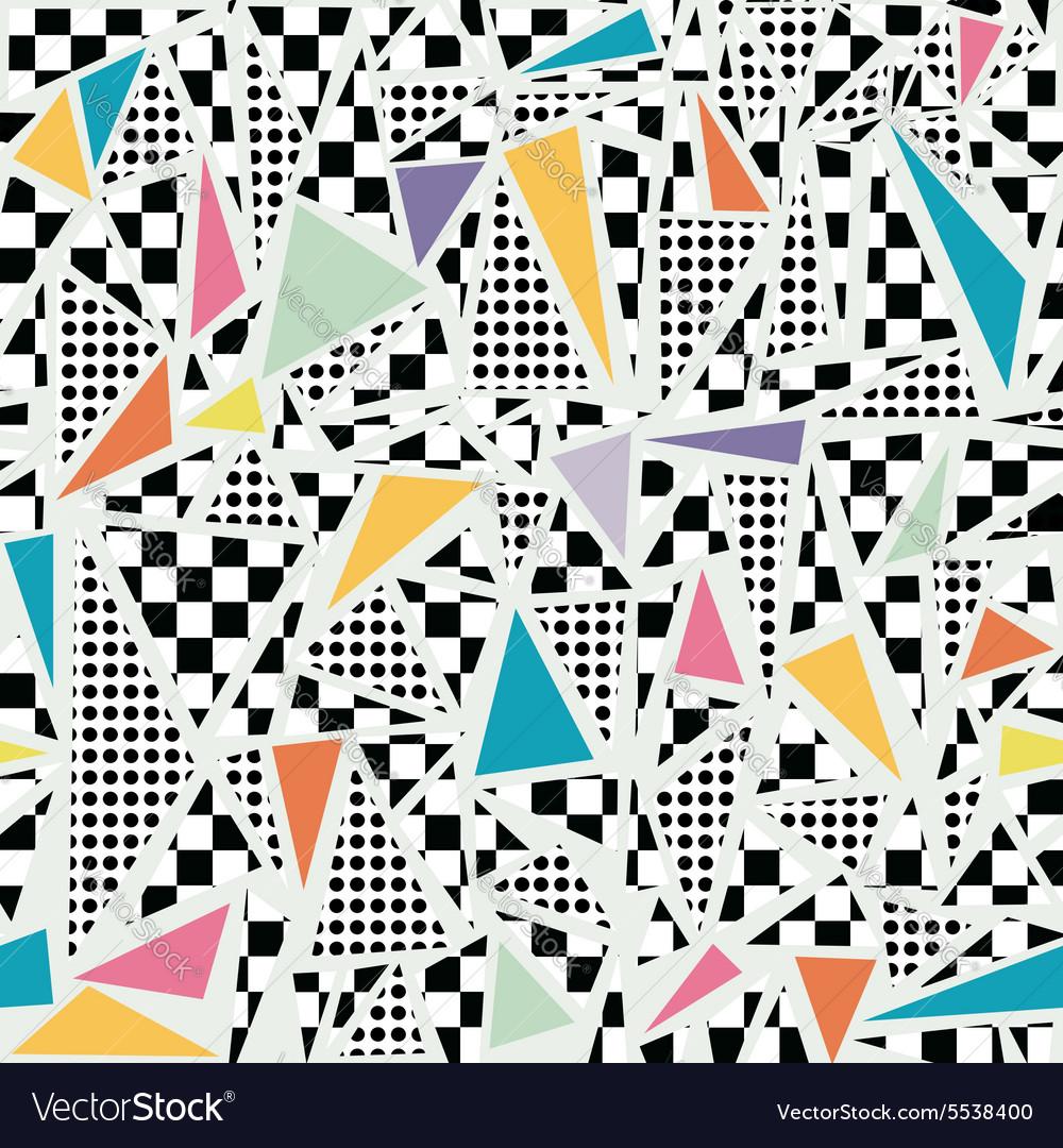 Retro 80s memphis pattern background