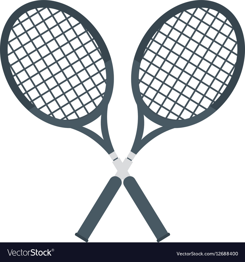 Two Racket Crossed Tennis Graphic Royalty Free Vector Image