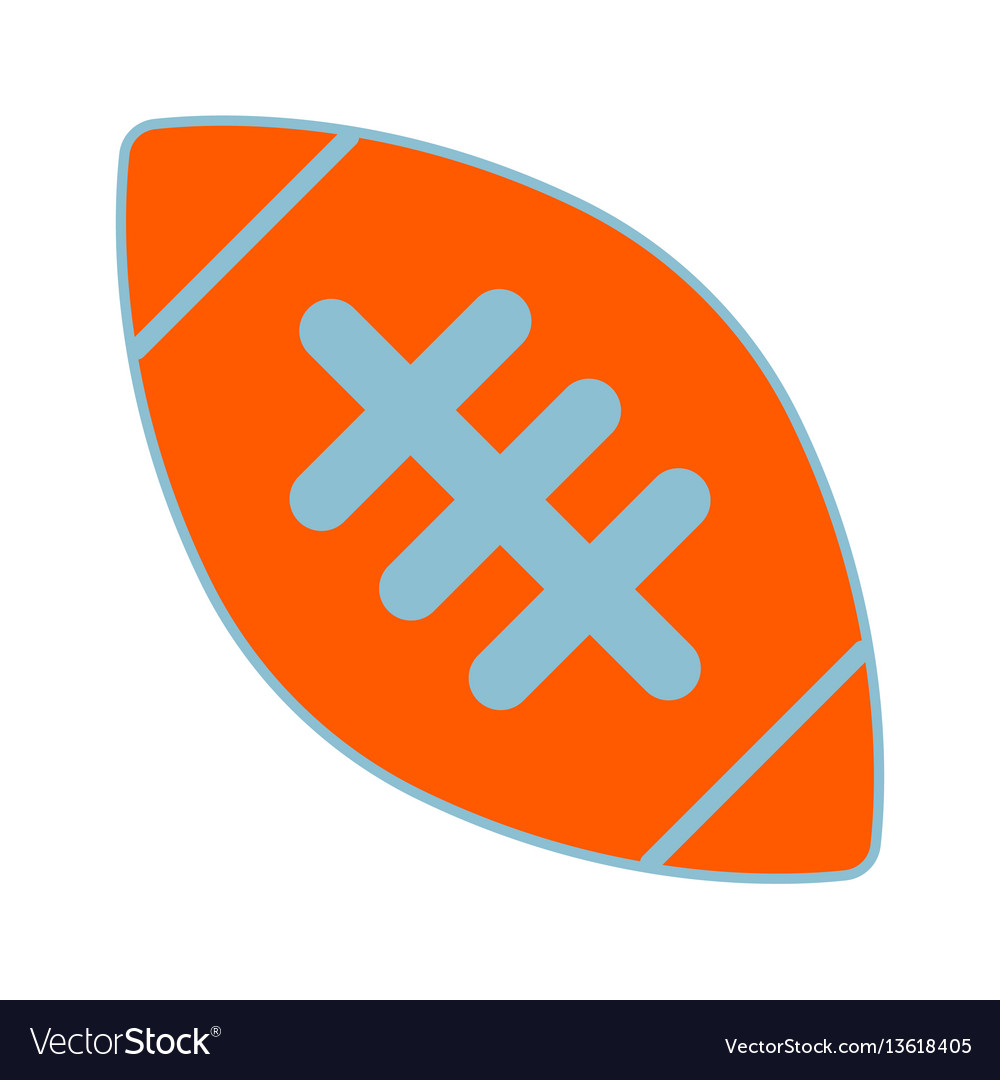 American football ball sign vector image