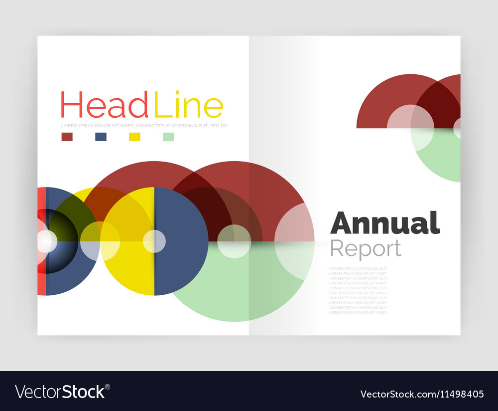 circle annual report templates business flyers vector image