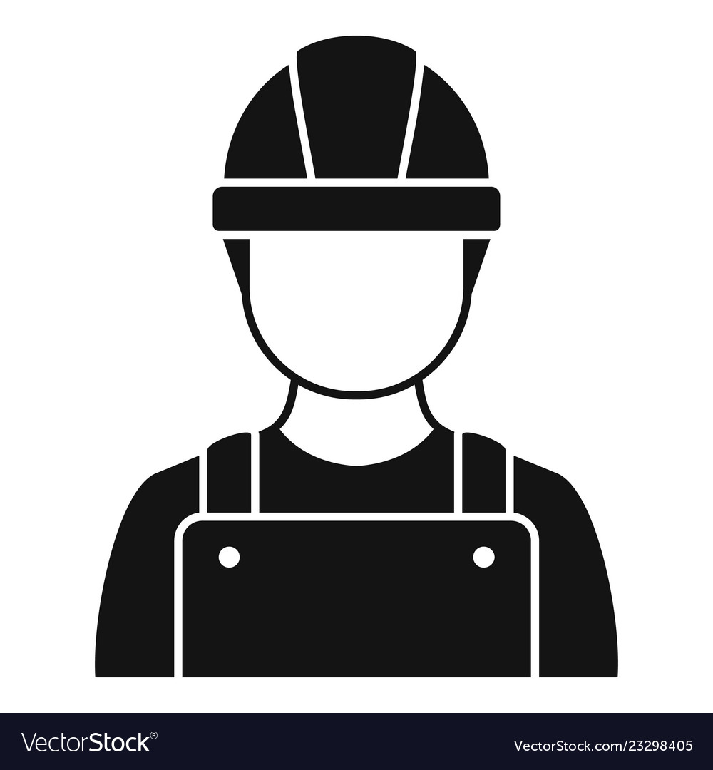 Construction man icon simple style