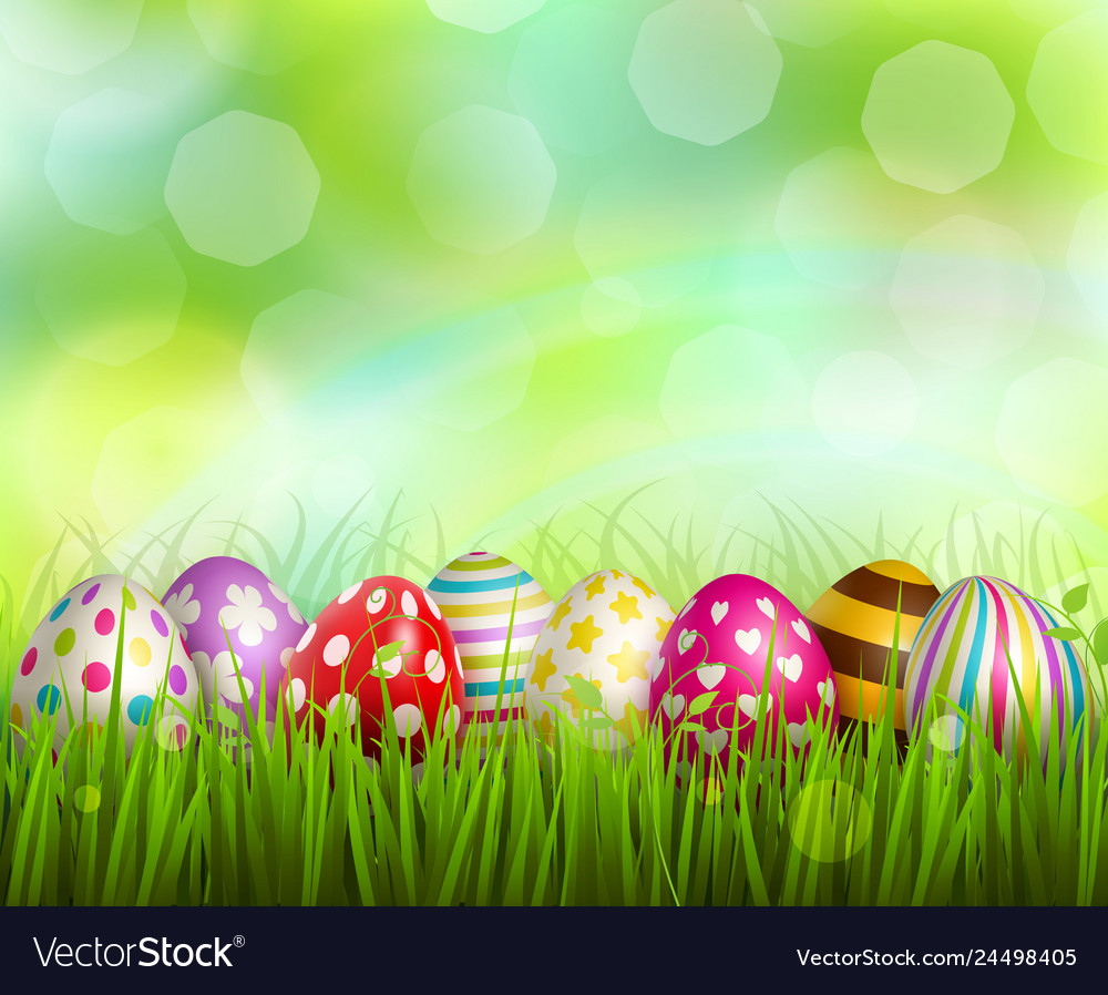 Easter realistic background