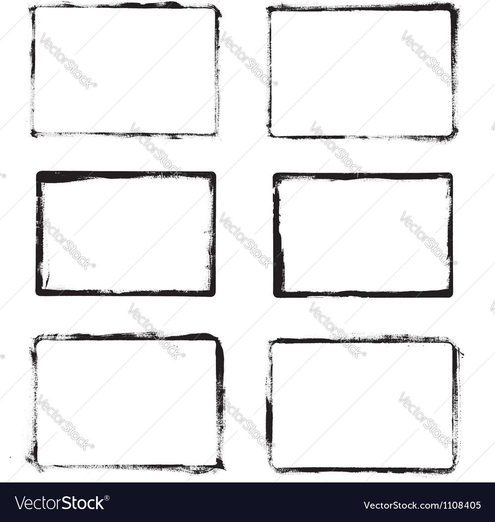 Frames drawn ink brush vector image