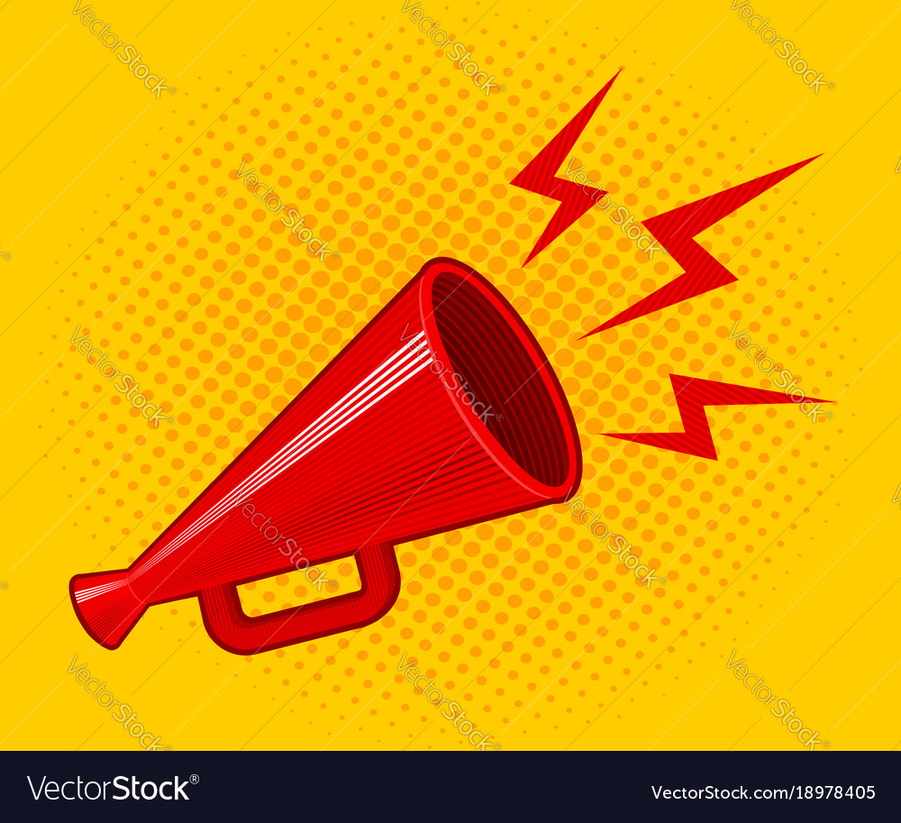 red retro megaphone royalty free vector image vectorstock rh vectorstock com megaphone vector icon megaphone vector icon