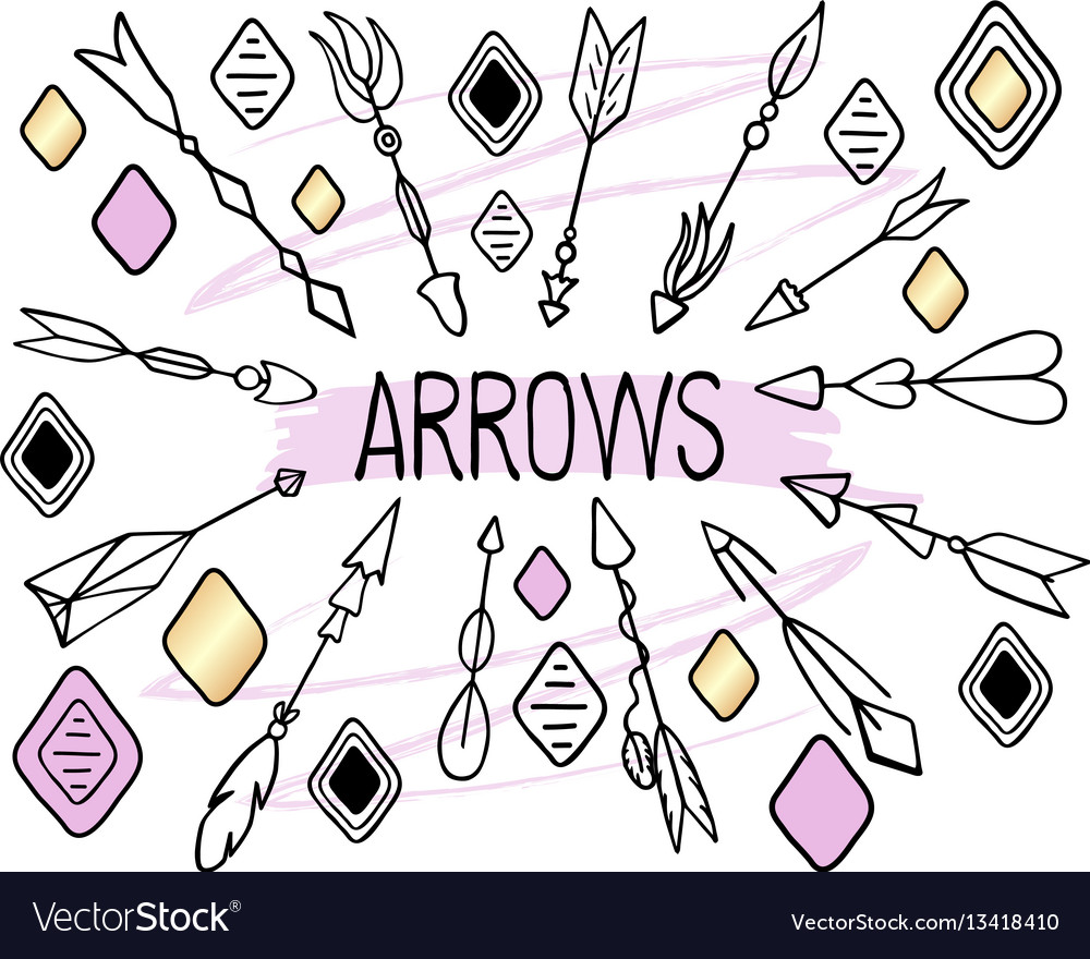 Arrows clipart on white background hand