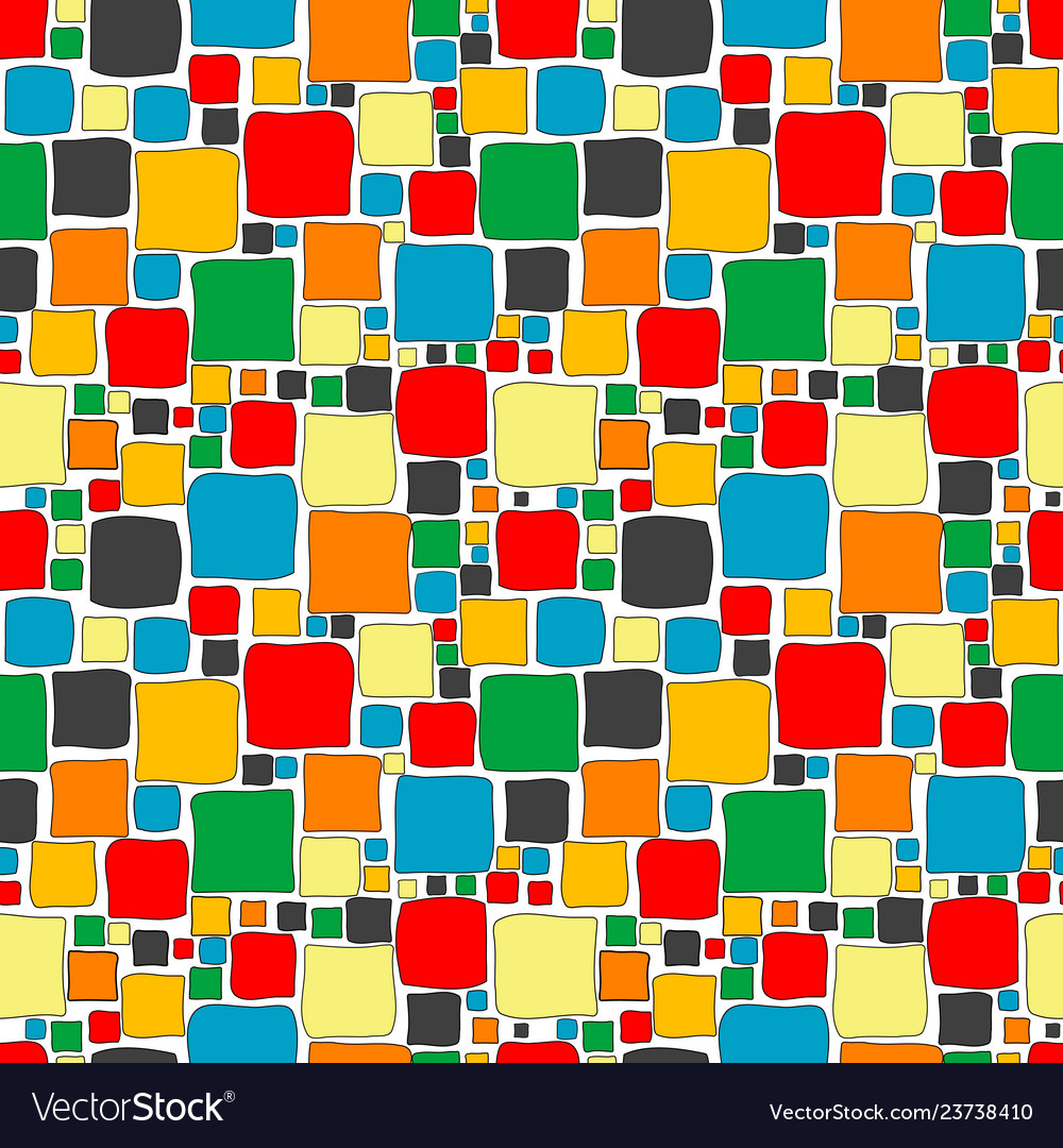 Colorful seamless with squares