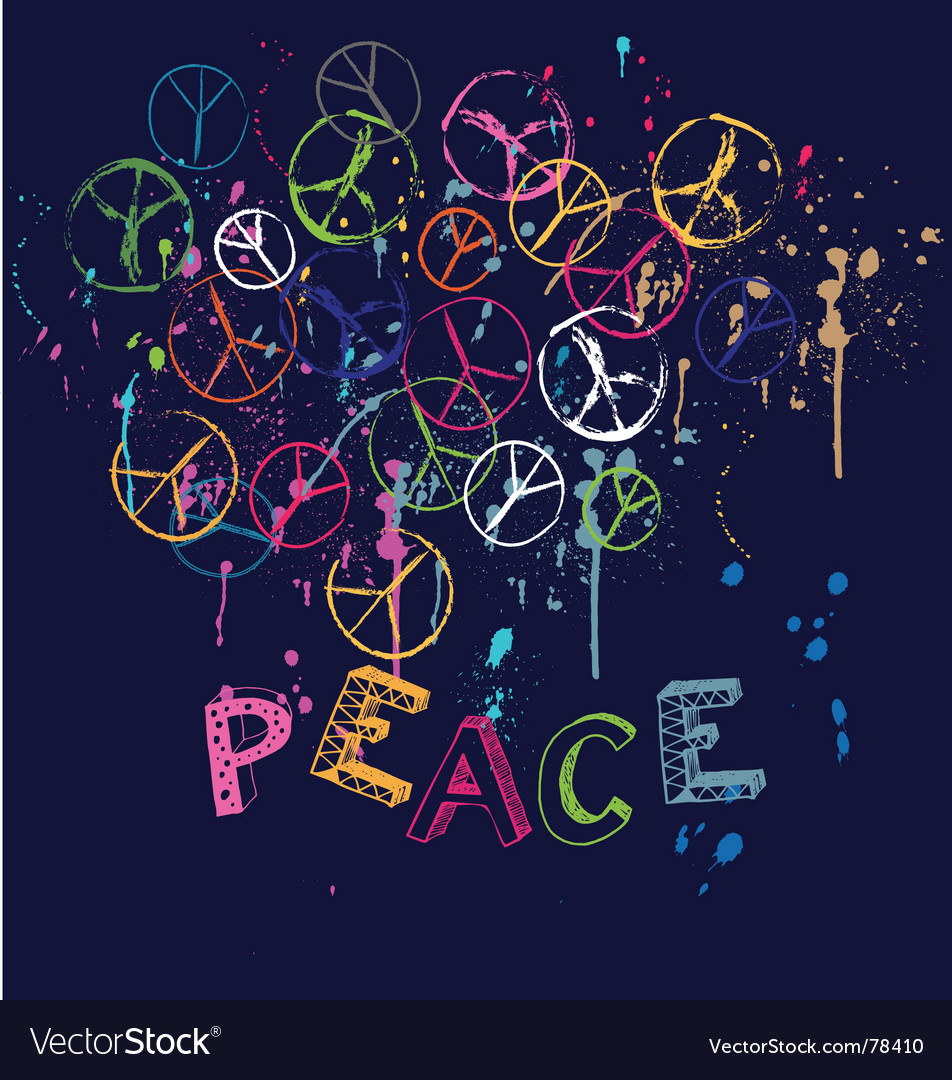 Drawn group of peace signs