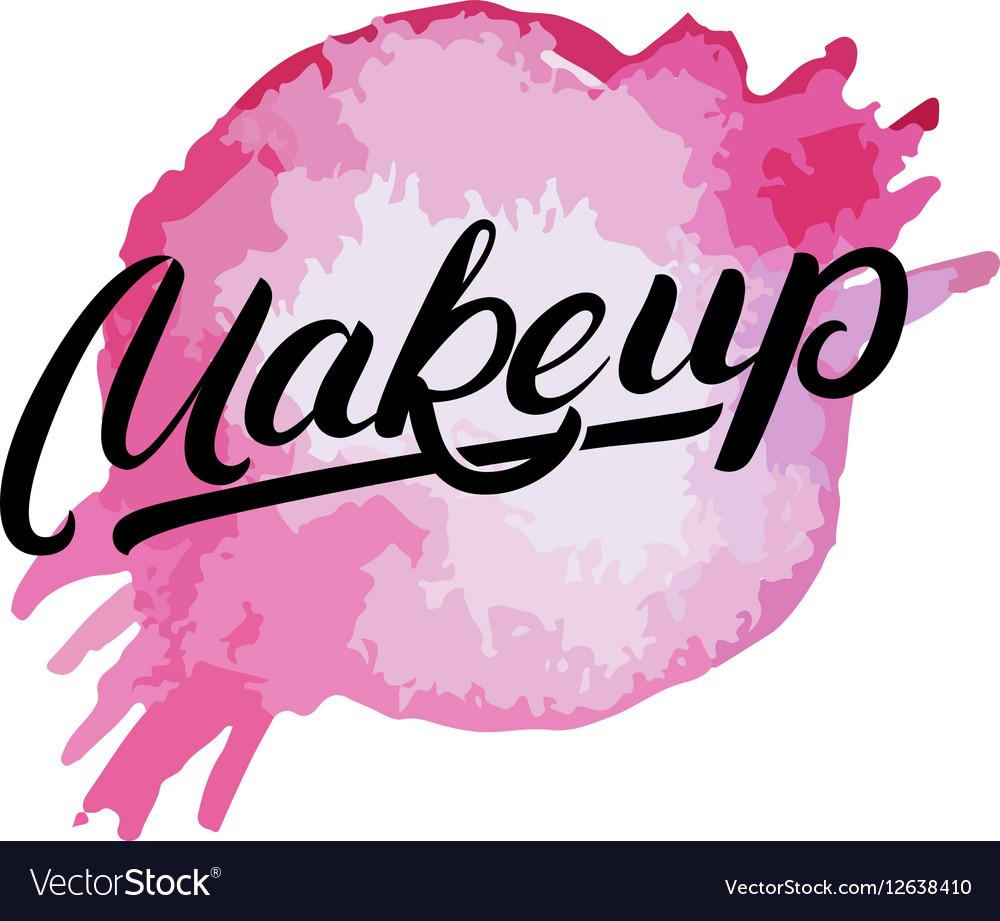 Makeup hand written lettering logo label emblem