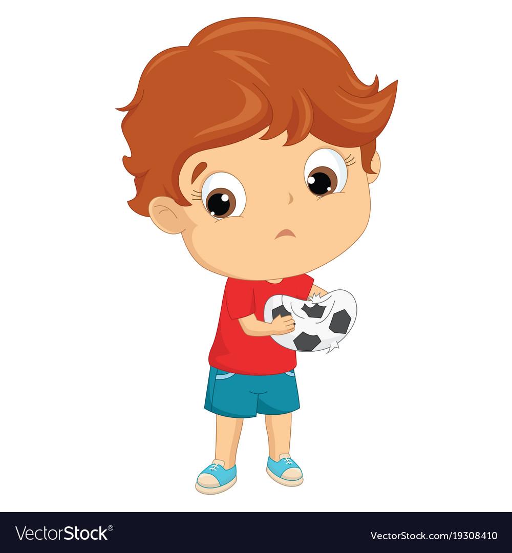 Of a sad kid vector image