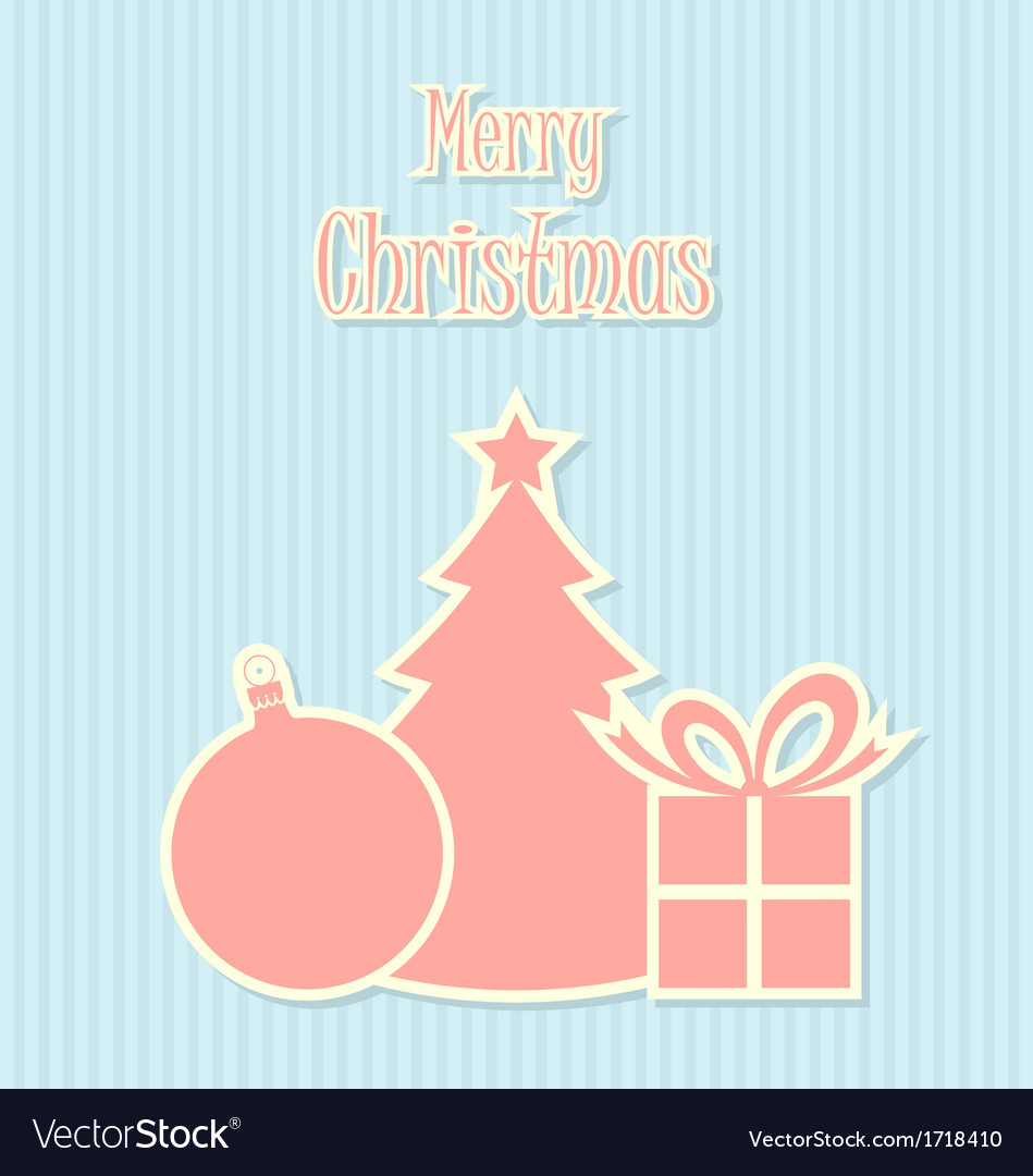 Retro Style Christmas Decoration Vector Image
