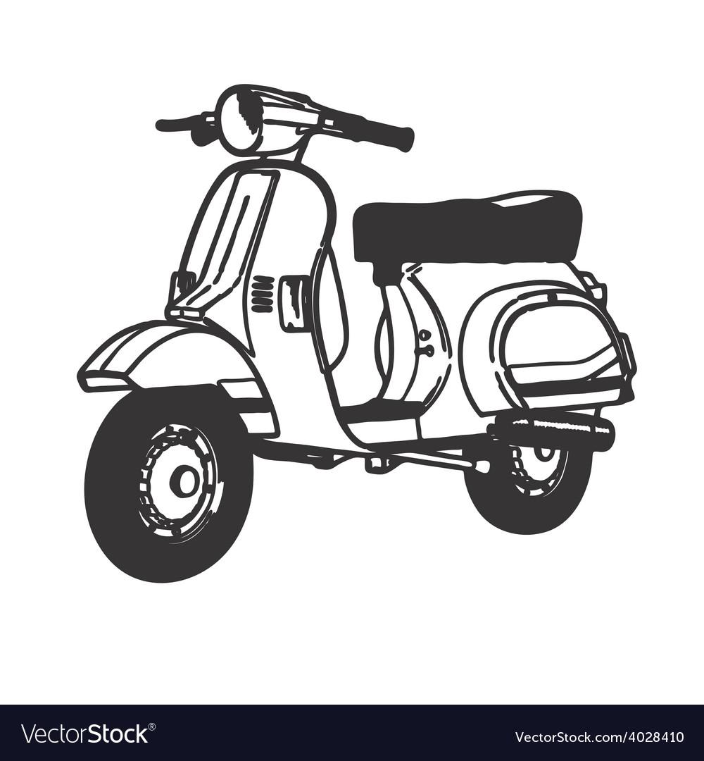 scooter symbol mod lambretta vespa royalty free vector image vectorstock