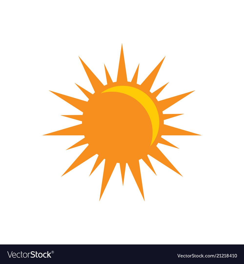 Sun icon - sunligth sign symbol flat