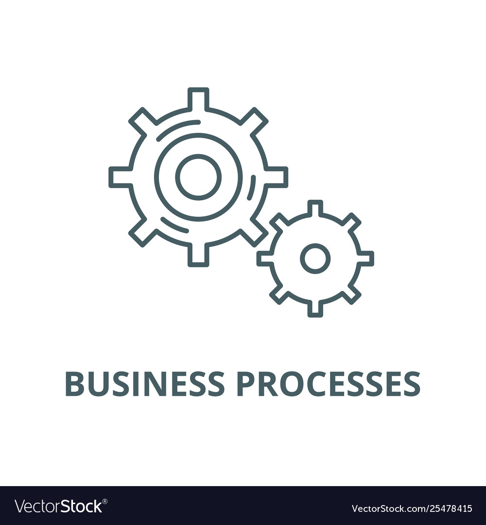 Business processes line icon linear