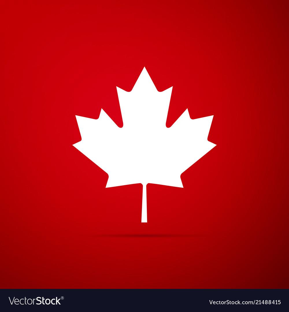 Canadian Maple Leaf Icon Canada Symbol Maple Leaf Vector Image