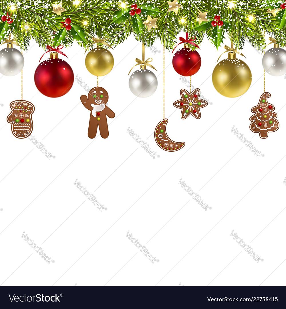 Christmas banner with christmas gingerbread