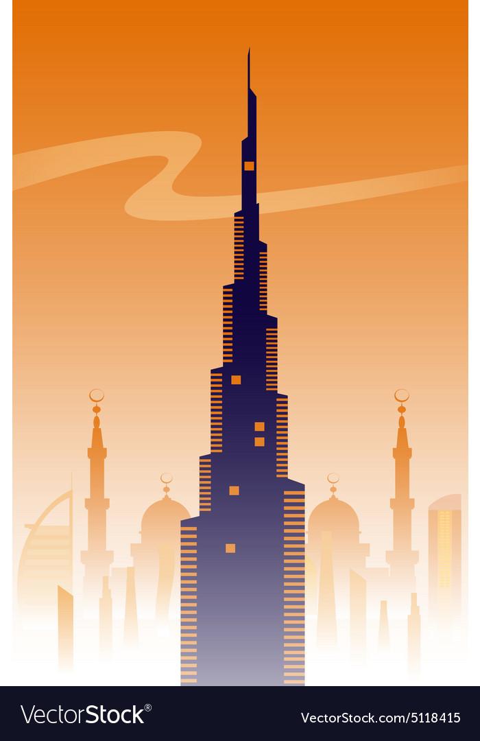Dubai skyline background