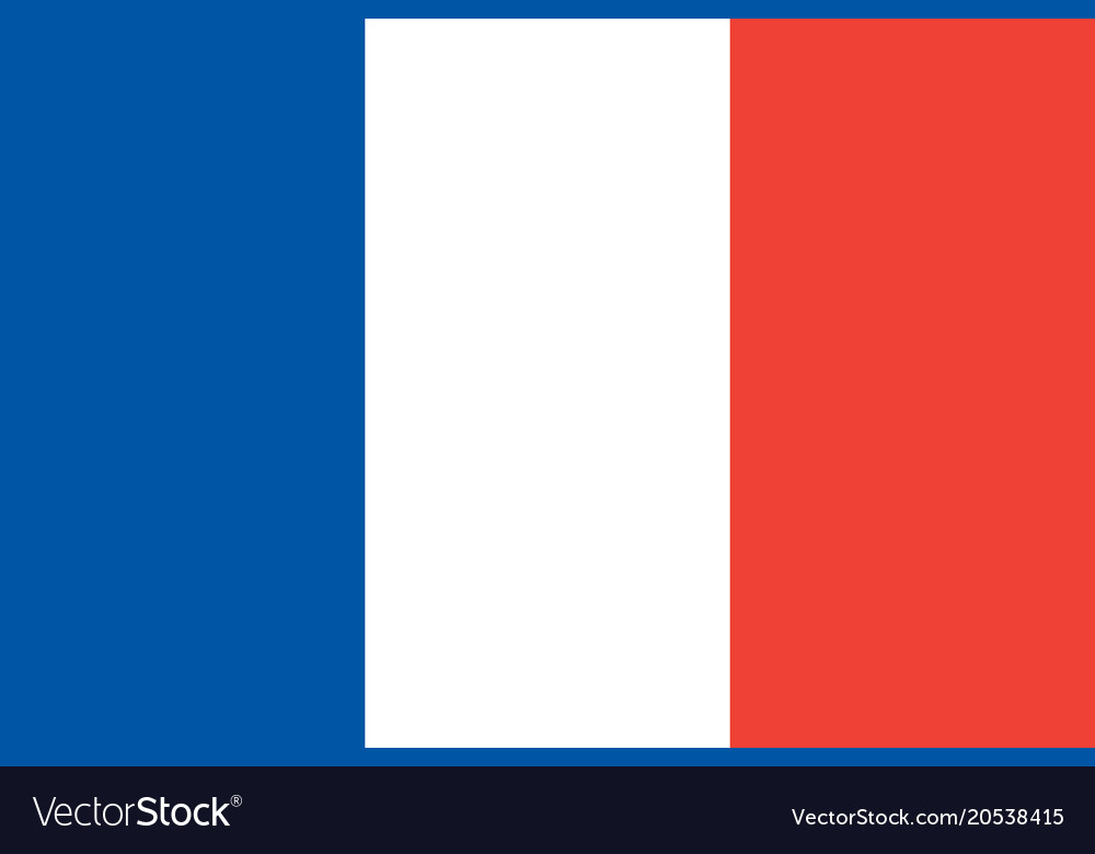Flag Of France National Symbol Of The State Vector Image